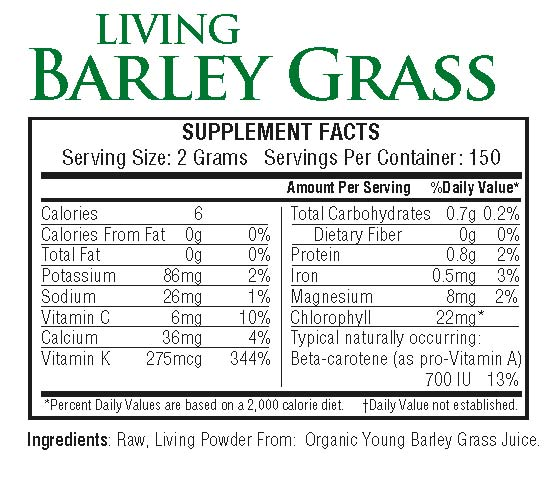 Living Barley Grass 300g powder