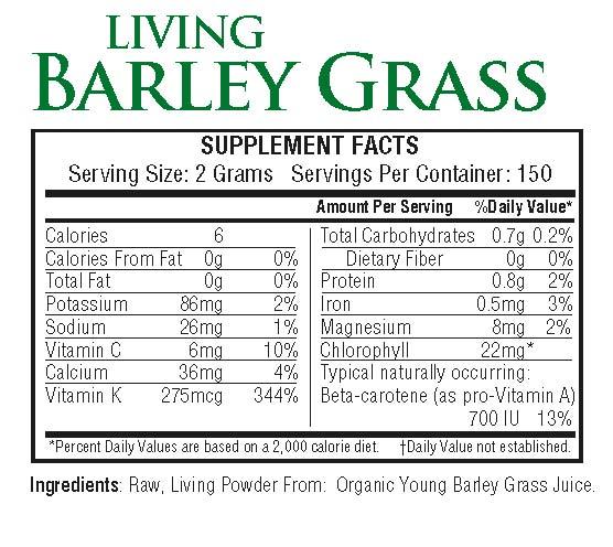 Living Barley Grass 300g powder